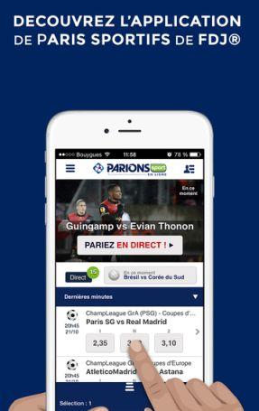 application parions sport en ligne pour parier depuis votre mobile. Black Bedroom Furniture Sets. Home Design Ideas