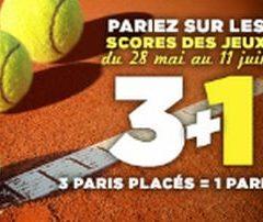 Bonus Roland Garros sur Winamax