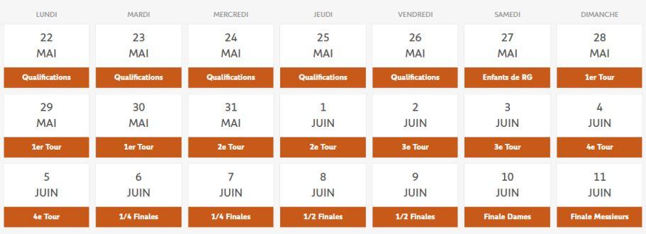 Tout sur roland garros 2017 dates programme et r sultats - Roland garros 2017 schedule ...