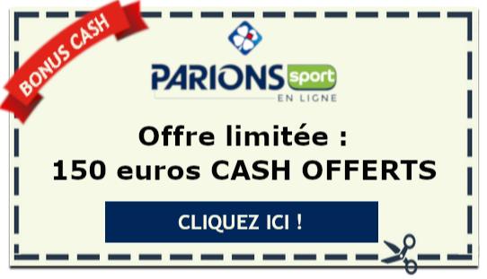 Bonus Parions Sport 150 euros