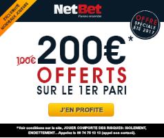 Offre Netbet : 200€ offerts