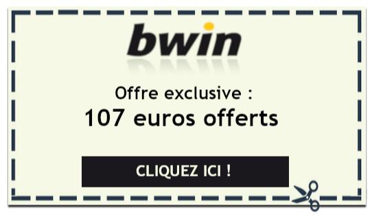 Offre spéciale Bwin : 107 euros offerts