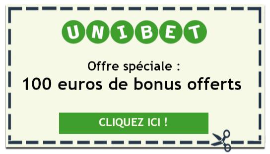 Offre spéciale Unibet : 100 euros offerts