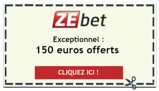 Offre spéciale Zebet : 150 euros offerts