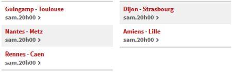 Matchs multiplex Ligue 1