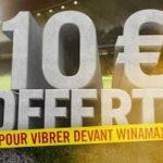 Challenge Live du weekendWinamax : recevez un bonus de 10€ chaque semaine