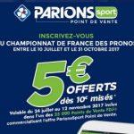 Championnat de France des Pronos : 150.000€ de dotations et 5€ offerts pour miser sur Parions Sport