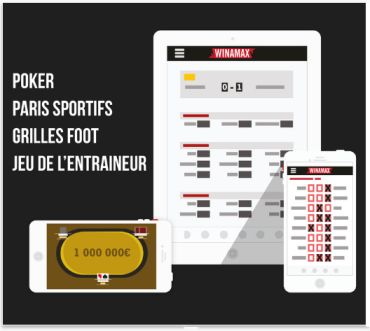 Application Winamax paris sportifs, Fantasy League et Poker