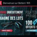 Betters' Rift, le premier site de paris gratuits sur l'eSport