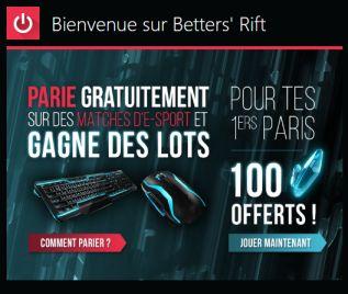 Betters' Rift : première plateforme de paris gratuits sur l'eSports
