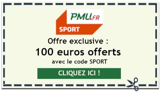 Bonus sport de 100 euros sur PMU
