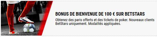 Bonus BetStars : jusqu'à 100€ offerts
