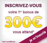 Bonus Feelingbet : jusqu'à 300€ offerts