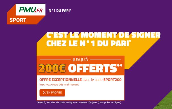 Bonus PMU Sport 200€