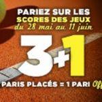 50€ de paris GRATUITS pour Roland Garros chaque jour sur Winamax