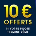 Meilleur bonus pour parier sur la F1 : 10€ offerts sur Netbet