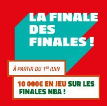 Cagnotte de 10.000€ mise en jeu par le PMU pour les finales NBA