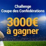 3.000€ à gagner pour la Coupe des Confédérations sur France Pari