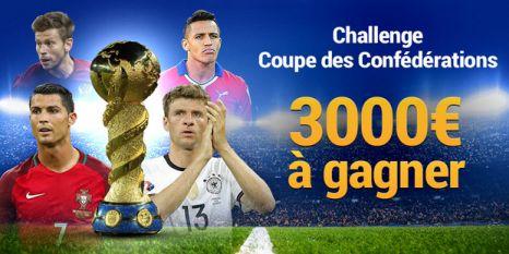 Challenge Coupe des Confédérations sur la plateforme France Pari
