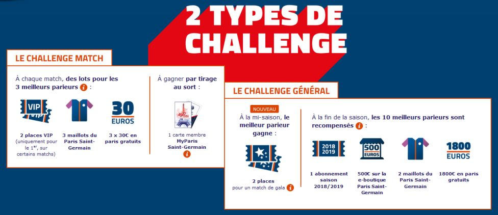 Challenge PSG sur le site du PMU