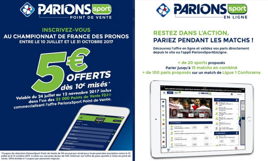 Coupons réduction Parions Sport sur le Championnat de France des Pronos