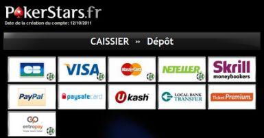 Dépôts BetStars : les méthodes de paiement disponibles
