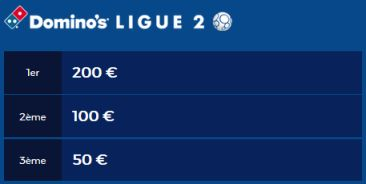 Dotations Ligue 2 journée Championnat de France des pronos