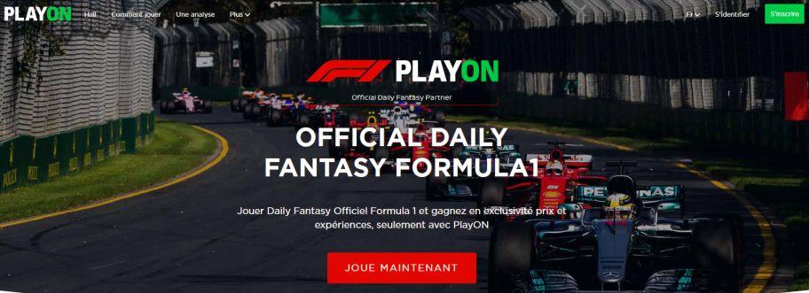 Fantasy Formula1 sur PlayON