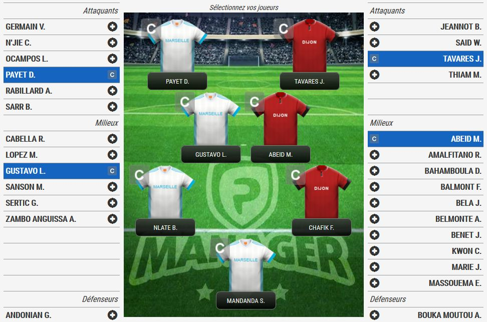 Fantasy matchs FP Manager
