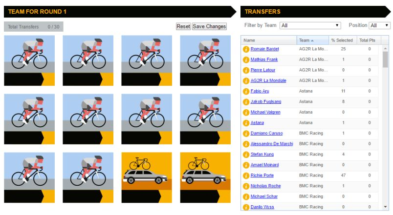 Fantay League Tour de France par UDT Games
