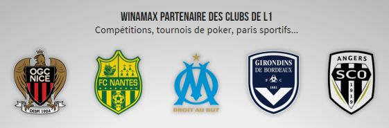 Contrats de sponsoring Ligue 1 de Winamax