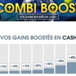 Combi Boost Netbet : jusqu'à 100% de bonus en argent cash sur vos paris combinés