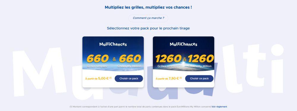 Packs MultiChances EuroMillions