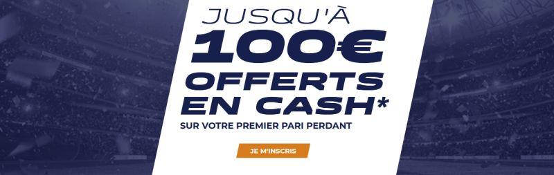 Parions Sport bonus de 100 euros cash
