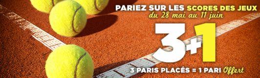 Paris gratuits Roland Garros 2017 sur Winamax