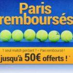 France Pari vous rembourse votre pari combiné tennis !