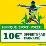 Parrainage PMU: astuces pour obtenir jusqu'à 100€ de paris gratuits