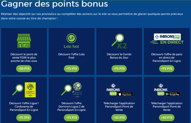 Comment obtenir des points bonus pour le Championnat de France des Pronos ?