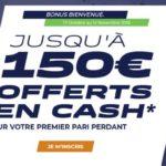 Code Promo Parions Sport : bonus CASH de 150€ en Octobre-Novembre 2018