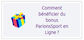 Termes et conditions bonus Parions Sport