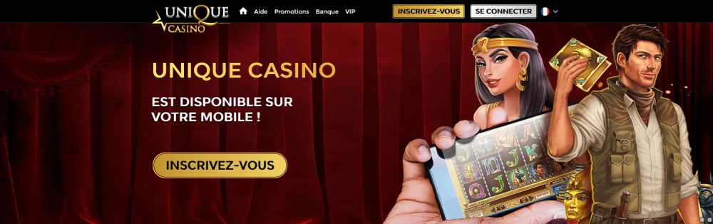 Unique Casino sur mobile