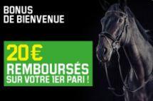bonus de bienvenue Unibet Turf : jusqu'à 20€ offerts