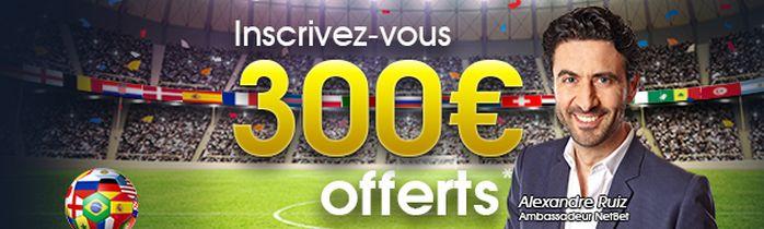 code promo netbet coupe du monde 2018 de 300€