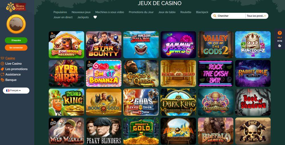 jeux Montecrypto Casino