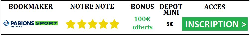 bonus parions sport 100 euros offerts
