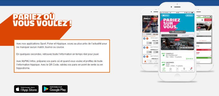 PMU mobile : sport, hippique et poker