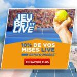Betclic vous rembourse 10% de vos paris live sur l Open d Australie