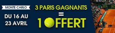 Bonus Netbet Tournois Masters 1000 de Monte Carlo