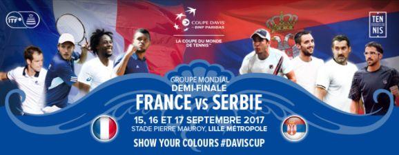 Demi-finale Coupe Davis 2017 : France-Serbie