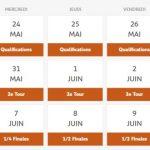 Programme Roland Garros 2017